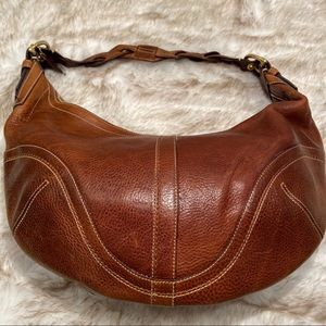 COACH Glove Tan Thick 6oz Leather Large Hobo